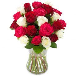 Schitterende rozen boeket groot