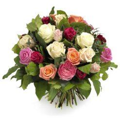 Grandioos rozen boeket middel
