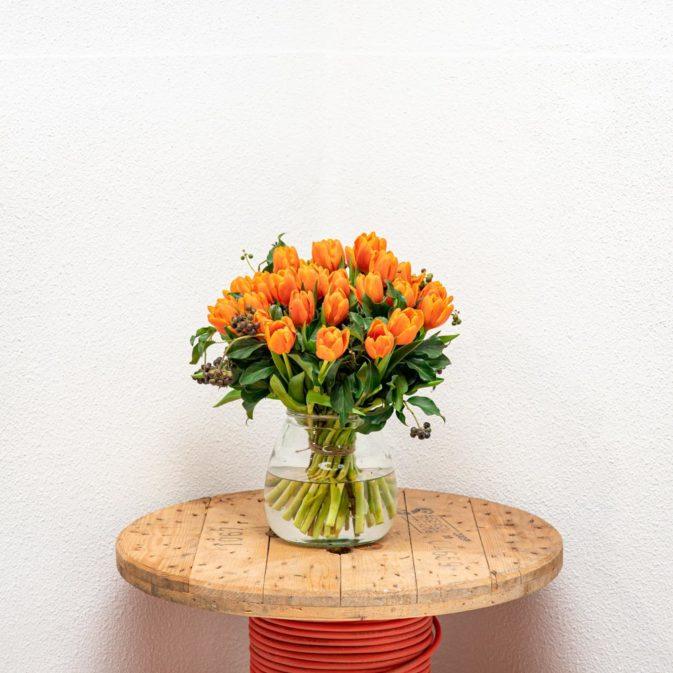 oranje tulpen vooraanzicht bloemen bezorgen
