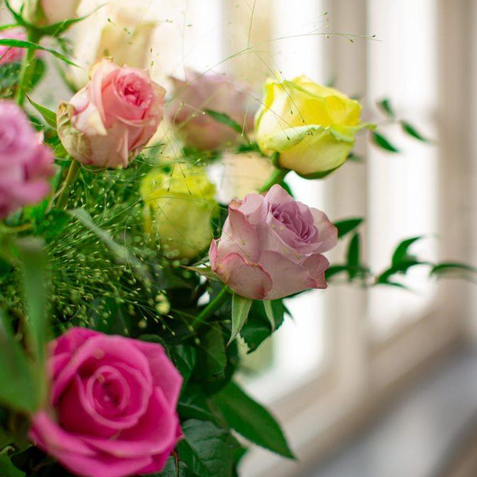 gekleurde rozen vooraanzicht raam la vie en rose 1