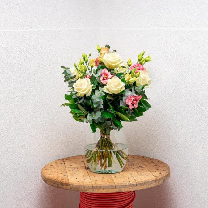 pastel rozen vooraanzicht dromenvanger