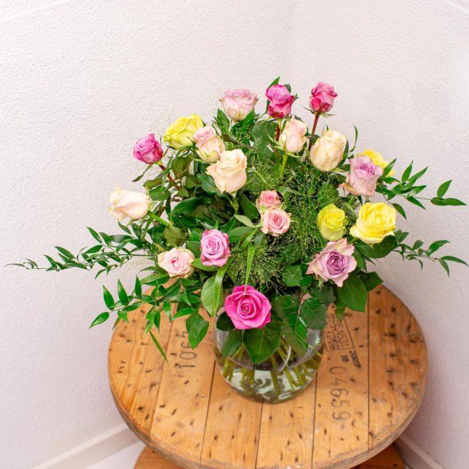 rozen pastel kleuren bloemen bezorgen