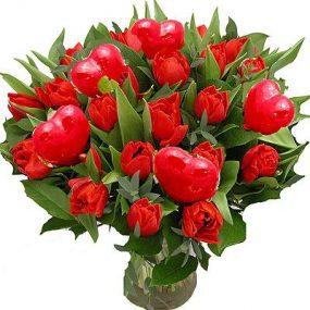 Tulpen met hartjes