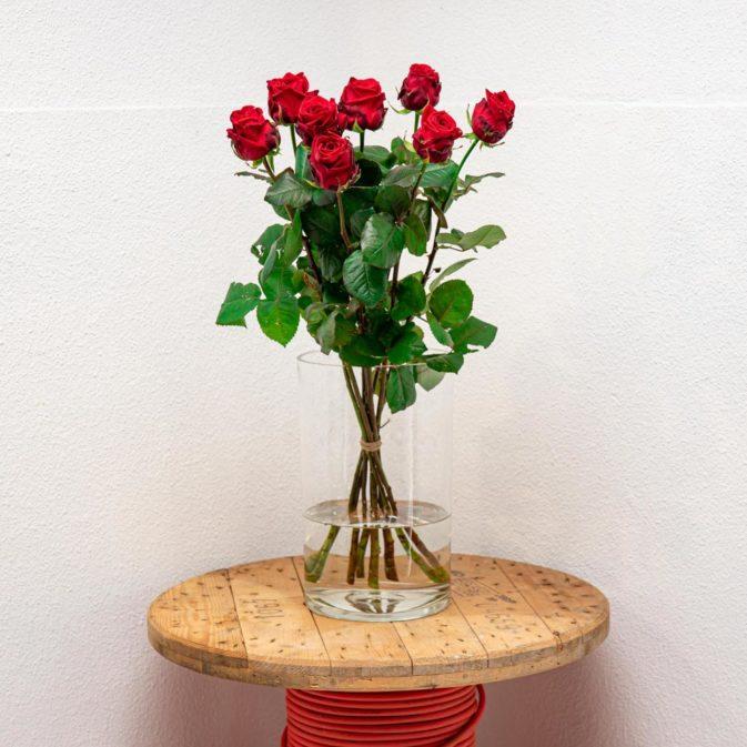 rode rozen vooraanzicht