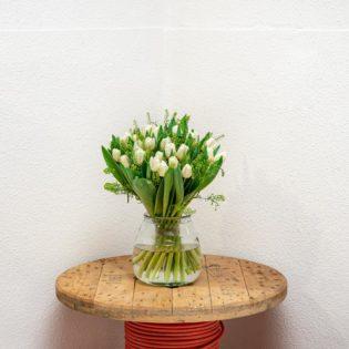witte tulpen vooraanzicht bloemen bezorgen