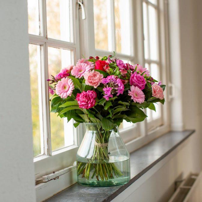 hartverwarmend roze raam