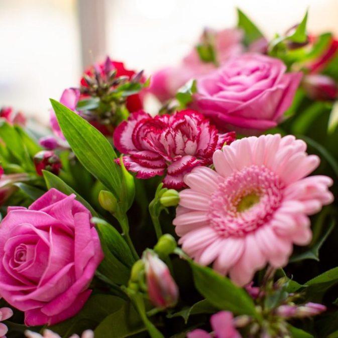 hartverwarmend roze close