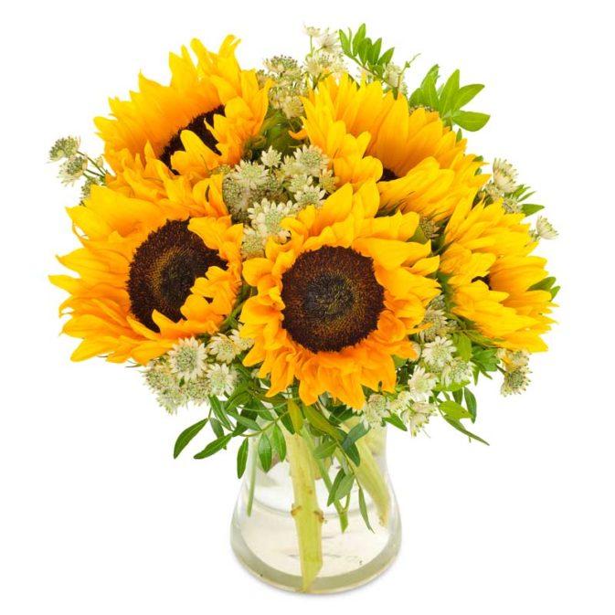 zonnebloemen boeket groot